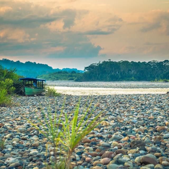 """Manu National Park, Peru - August 09, 2017: Landscape of the Amazon..."" stock image"