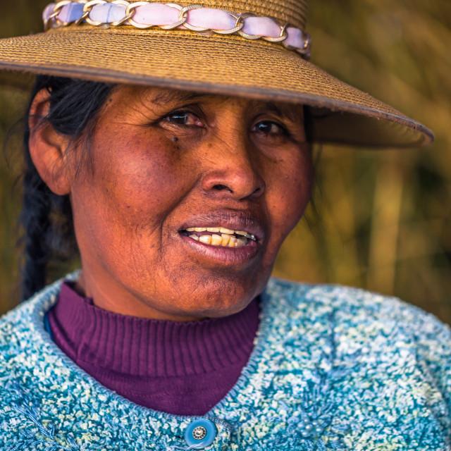 """Puno, Peru - July 30, 2017: People of the Traditional Uros village in Puno, Peru"" stock image"