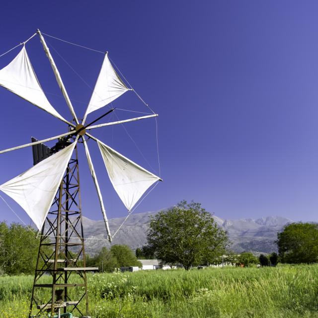 """Old Greek windmill"" stock image"