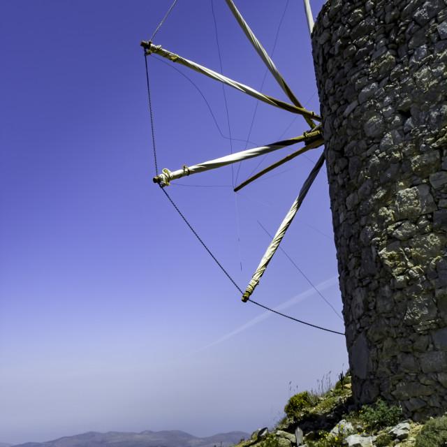 """Antient Greek windmill"" stock image"