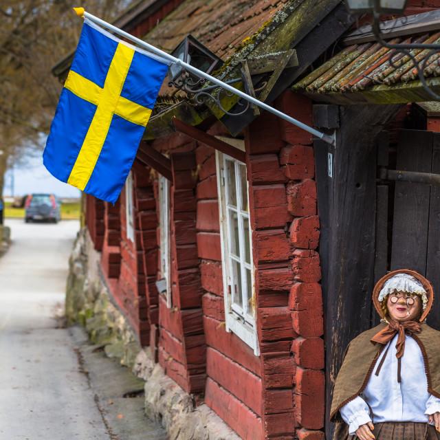 """""""Sigtuna - April 08, 2017 : Old town of Sigtuna, Sweden"""" stock image"""