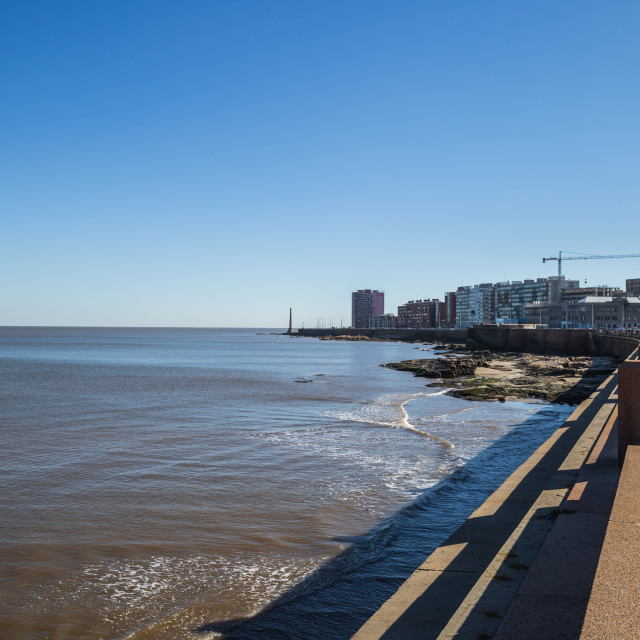 """Montevideo - July 02, 2017: Coastline of Montevideo, Uruguay"" stock image"