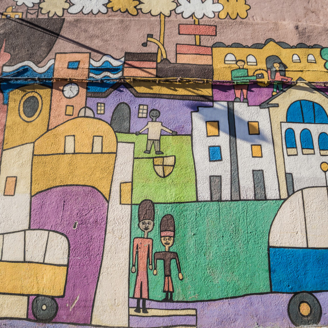 """Montevideo - July 02, 2017: Street art in the center of Montevideo, Uruguay"" stock image"