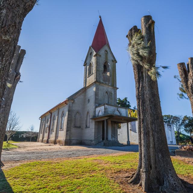 """""""Nueva Helvecia - July 02, 2017: Church in the town of Nueva Helvecia, Uruguay"""" stock image"""