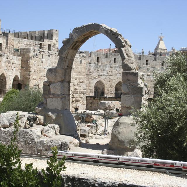 """""""Jerusalem, City of David"""" stock image"""
