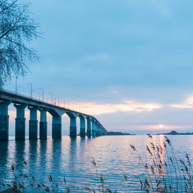 """Dawn by the bridge"" stock image"