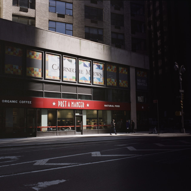 """New York Shadows"" stock image"