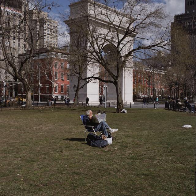"""Washington Square Park, New York"" stock image"