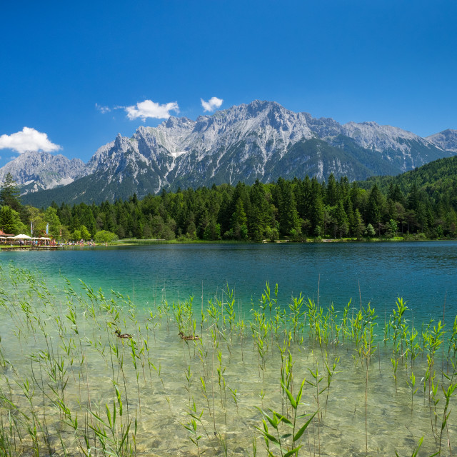 """Lautersee And Karwendel Mountains"" stock image"