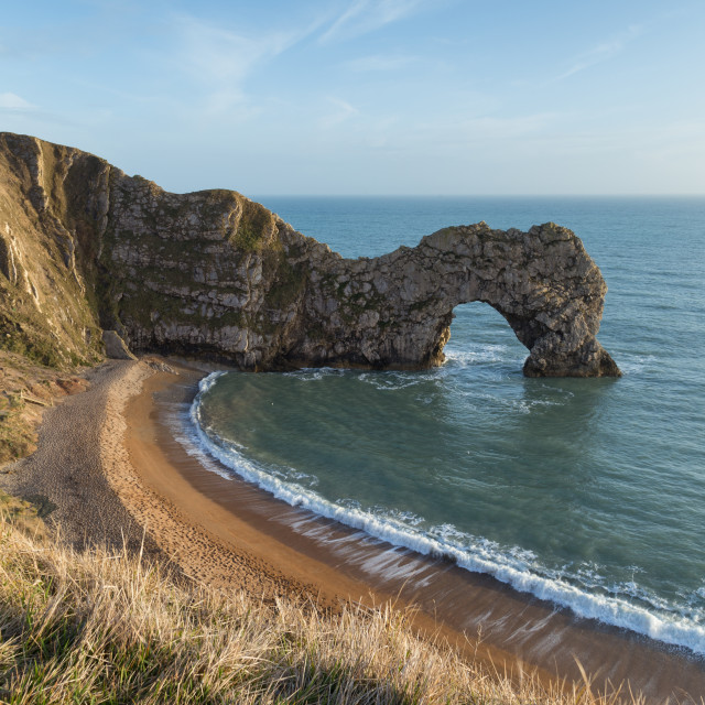"""Durdle Door, Jurassic Coast, Dorset, UK"" stock image"
