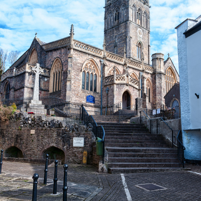 """Axbridge Church"" stock image"