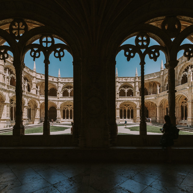"""Santa Maria de Belem - Courtyard Contrast"" stock image"