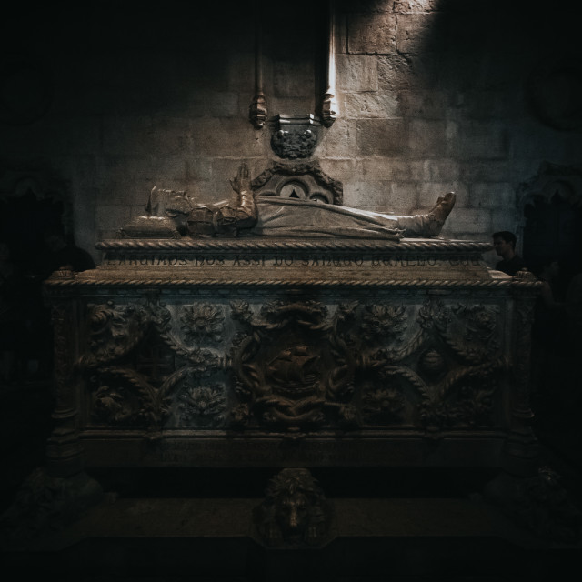 """Vasco de Gama Tomb at Santa Maria de Belem"" stock image"