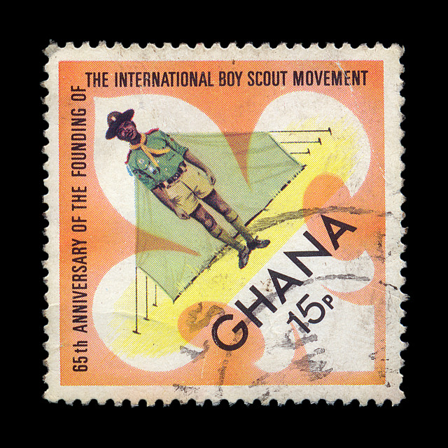 """""""boy scout postage stamp"""" stock image"""
