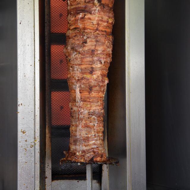 """pork gyros and pita bread"" stock image"