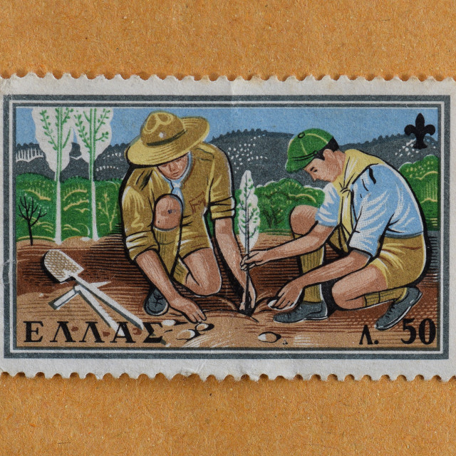 """""""boy scouts postage stamp"""" stock image"""