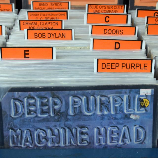 """vintage vinyl records"" stock image"