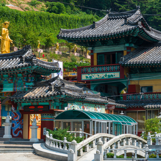 """Buddhist temple in Busan, South Korea."" stock image"