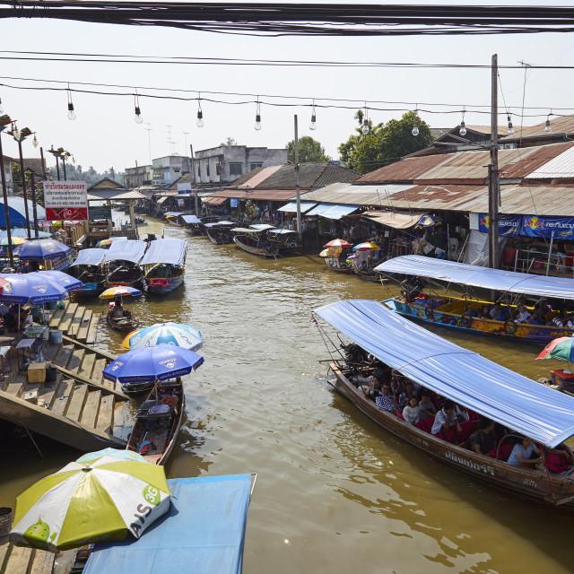 """""""Amphawa floating market, Bangkok, Thailand"""" stock image"""