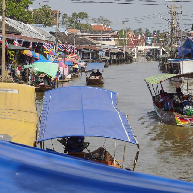 """""""Amphawa Floating Market, Bangkok, Thailand,"""" stock image"""