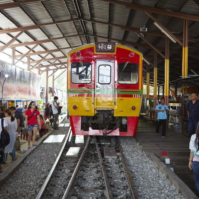 """Maeklong railway, Bangkok, Thailand"" stock image"