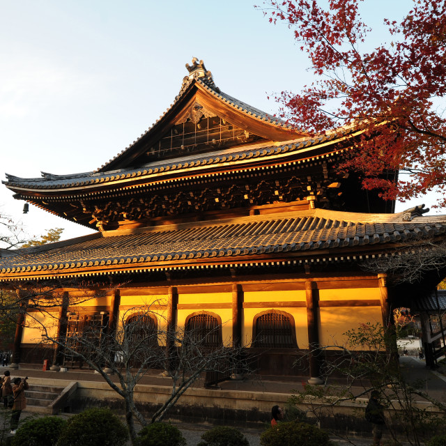 """Nanzenji Temple, the head temple within the Rinzai sect of Japanese Zen..."" stock image"