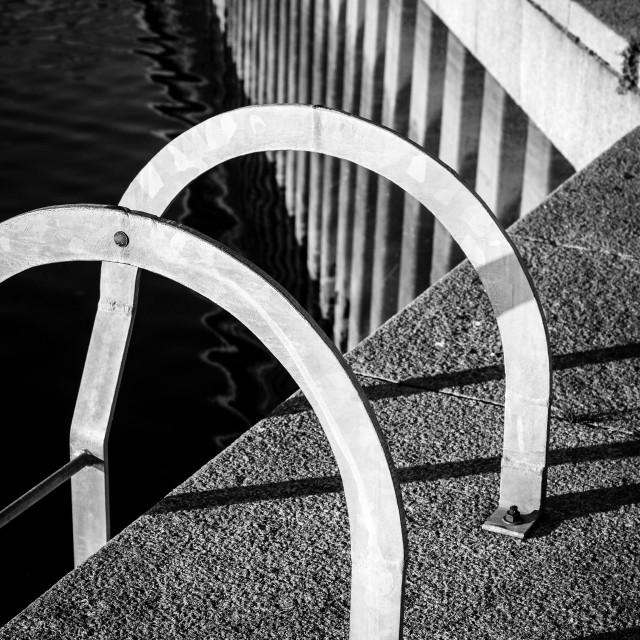 """Sunlit Quayside At Berwick Upon Tweed"" stock image"