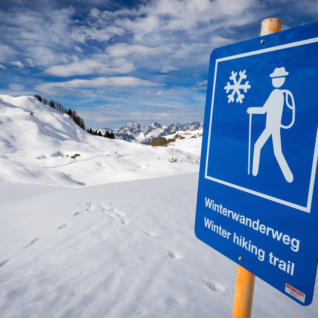 """""""Winterwanderweg"""" stock image"""