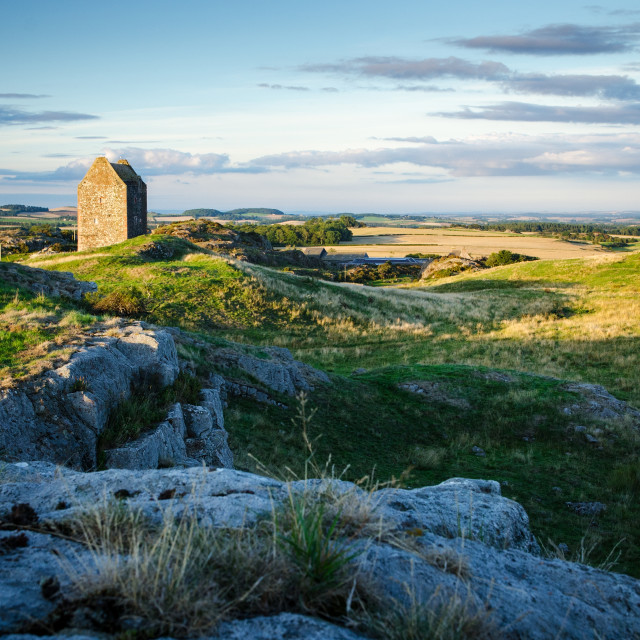 """Smailholm Tower Bathed In Sunlight"" stock image"