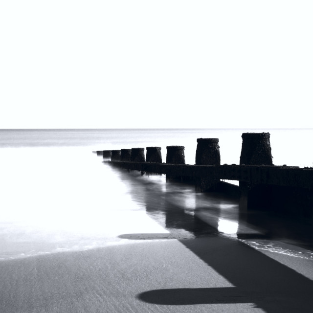 """Groynes at Dawlish Warren"" stock image"