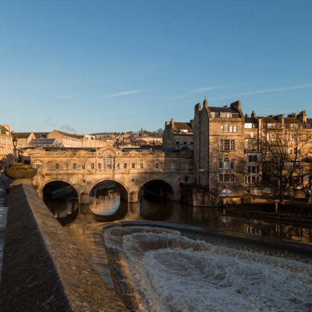 """Pulteney Bridge Sunrise, Bath, UK"" stock image"