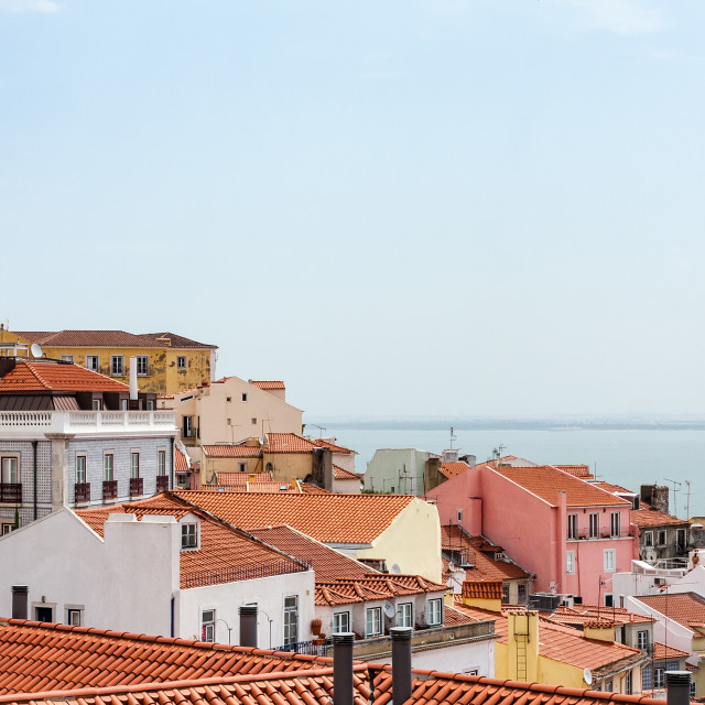 """Lisbon View"" stock image"