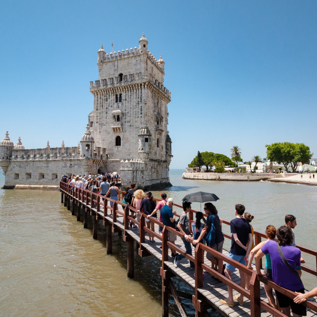 """Belém Tower (Torre de Belém)"" stock image"