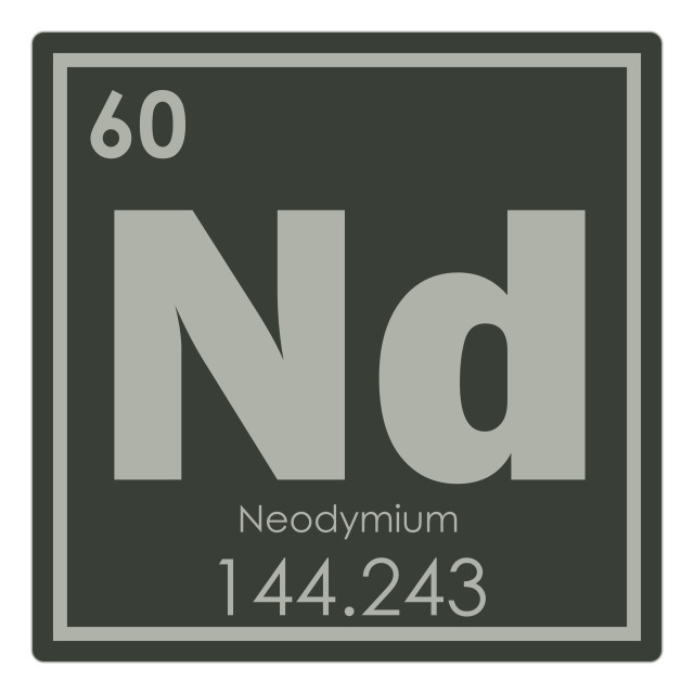"""Neodymium chemical element"" stock image"