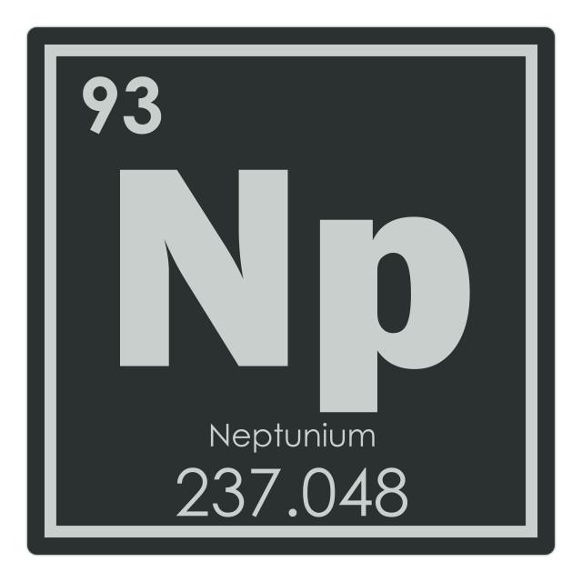 """Neptunium chemical element"" stock image"
