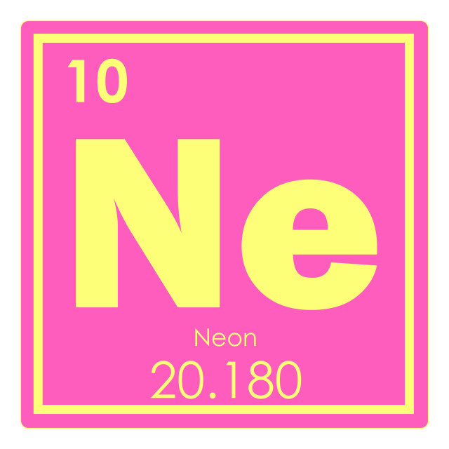"""""""Neon chemical element"""" stock image"""
