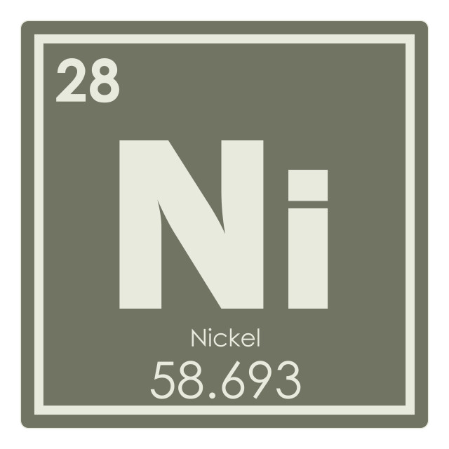 """""""Nickel chemical element"""" stock image"""