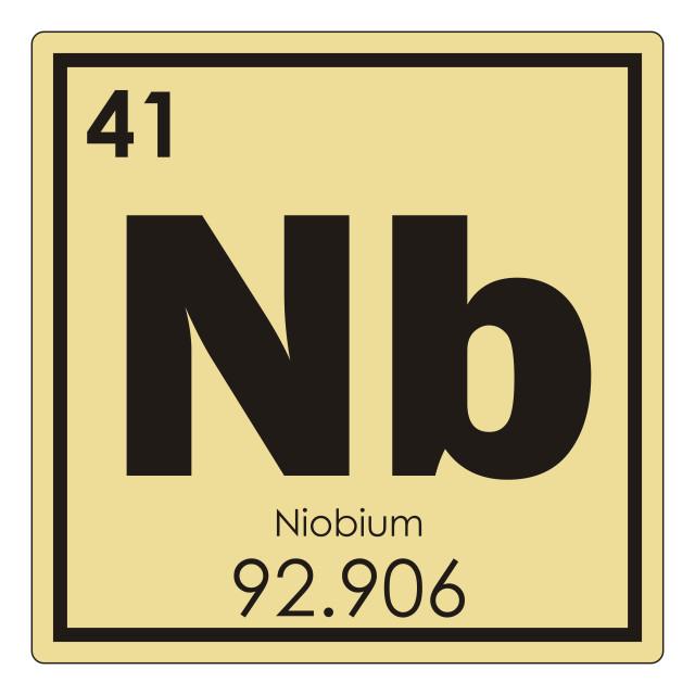 """""""Niobium chemical element"""" stock image"""