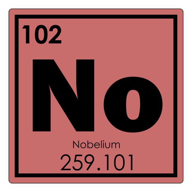 """Nobelium chemical element"" stock image"
