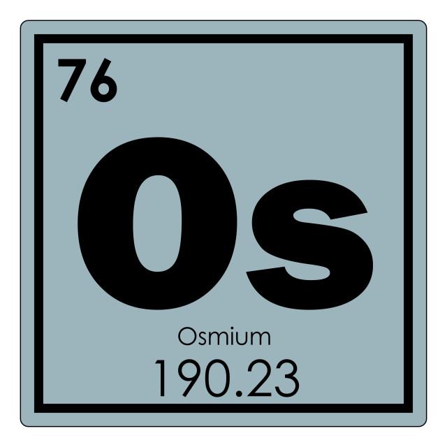 """Osmium chemical element"" stock image"