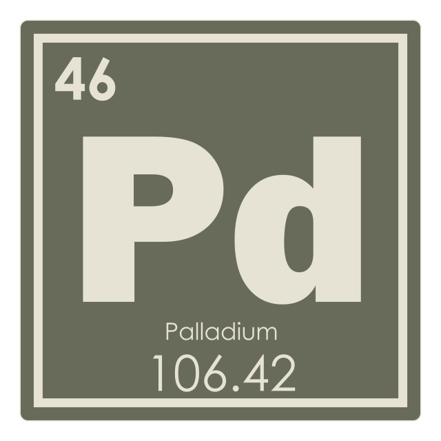 """Palladium chemical element"" stock image"