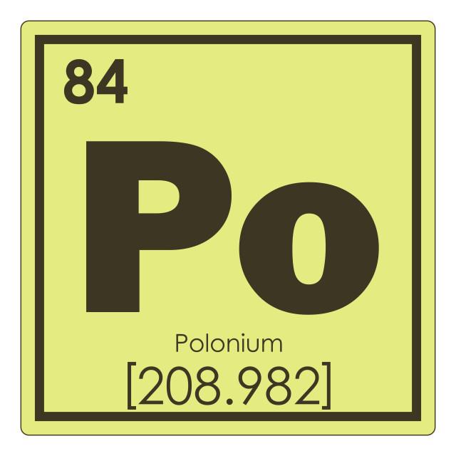 """Polonium chemical element"" stock image"