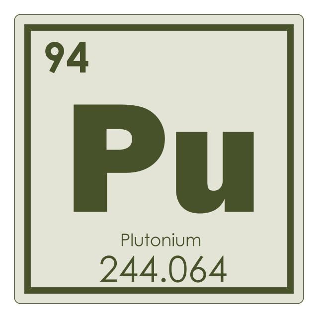 """Plutonium chemical element"" stock image"