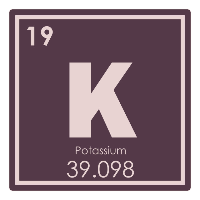 """Potassium chemical element"" stock image"