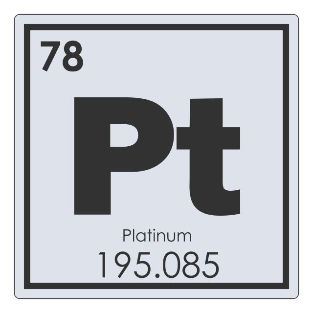 """Platinum chemical element"" stock image"