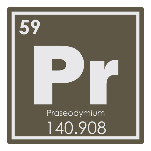 """Praseodymium chemical element"" stock image"