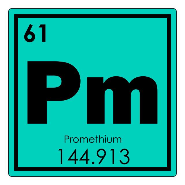 """Promethium chemical element"" stock image"