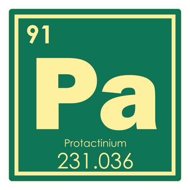 """Protactinium chemical element"" stock image"