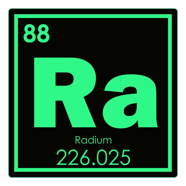 """""""Radium chemical element"""" stock image"""
