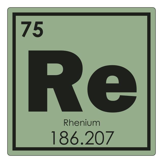 """Rhenium chemical element"" stock image"